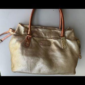 Kate Spade metallic gold satchel